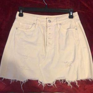 Free people off white denim skirt 26